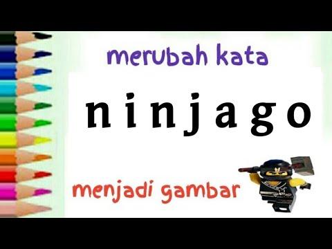 Cara Menggambar Lego Ninjago Dari Kata Ninjago Untuk Anak Youtube