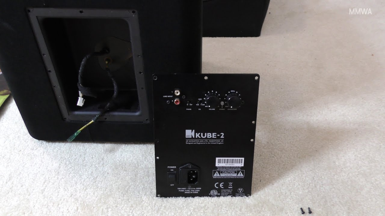 My KEF Kube-2 subwoofer failed, lets see why