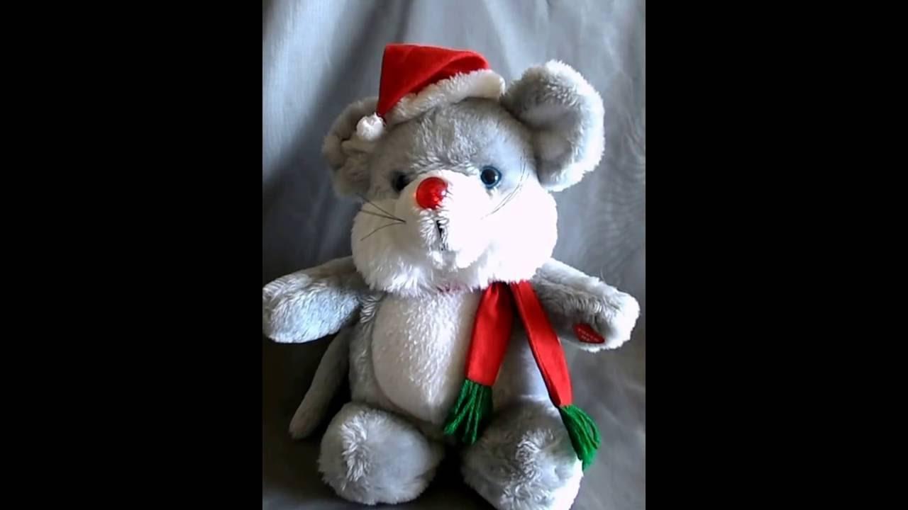 House Of Lloyd 1988 Christmas Melody Mouse Plush Youtube