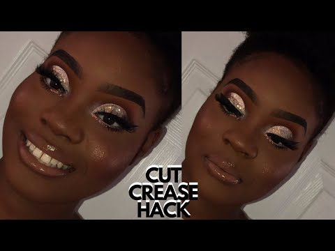 How To: EASIEST WAY TO CUT CREASE | GLITTER CUT CREASE TUTORIAL