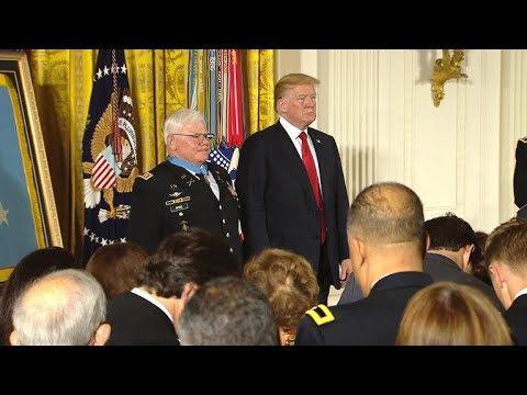 President Trump awards Capt. Gary Rose the Medal of Honor