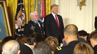 President Trump awards Capt. Gary Rose the Medal of Honor