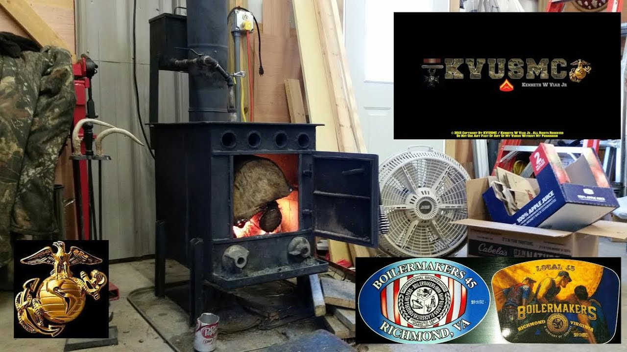 hybrid wood stove waste oil furnace the viar 94 u0027 in operation by