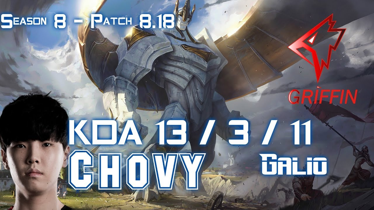 GRF Chovy GALIO vs NAUTILUS Mid - Patch 8.18 KR Ranked #1