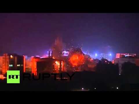 State of Palestine: The moment an Israeli air strike destroys Gaza Islamic University