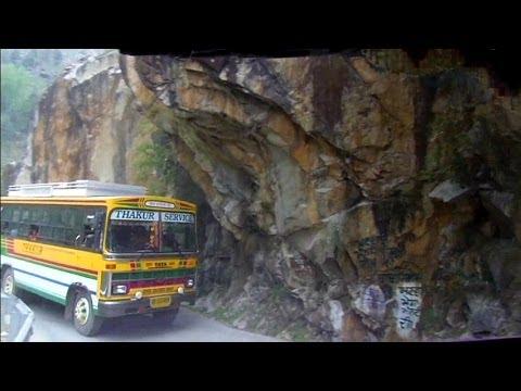 Wild bus ride in the Himalayas to Manikaran, India