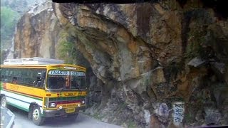 Wild bus ride in the Himalayas to Manikaran, India
