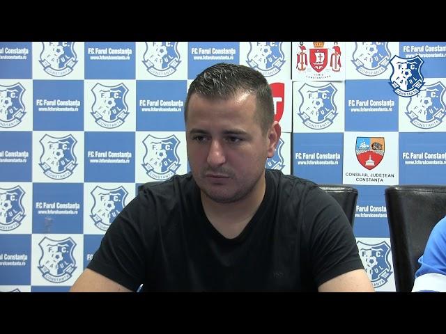 Conferință de presă înaintea partidei FC Farul - CS Sportul Snagov
