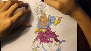 How To Draw Broly Legendary Super Saiyan 5