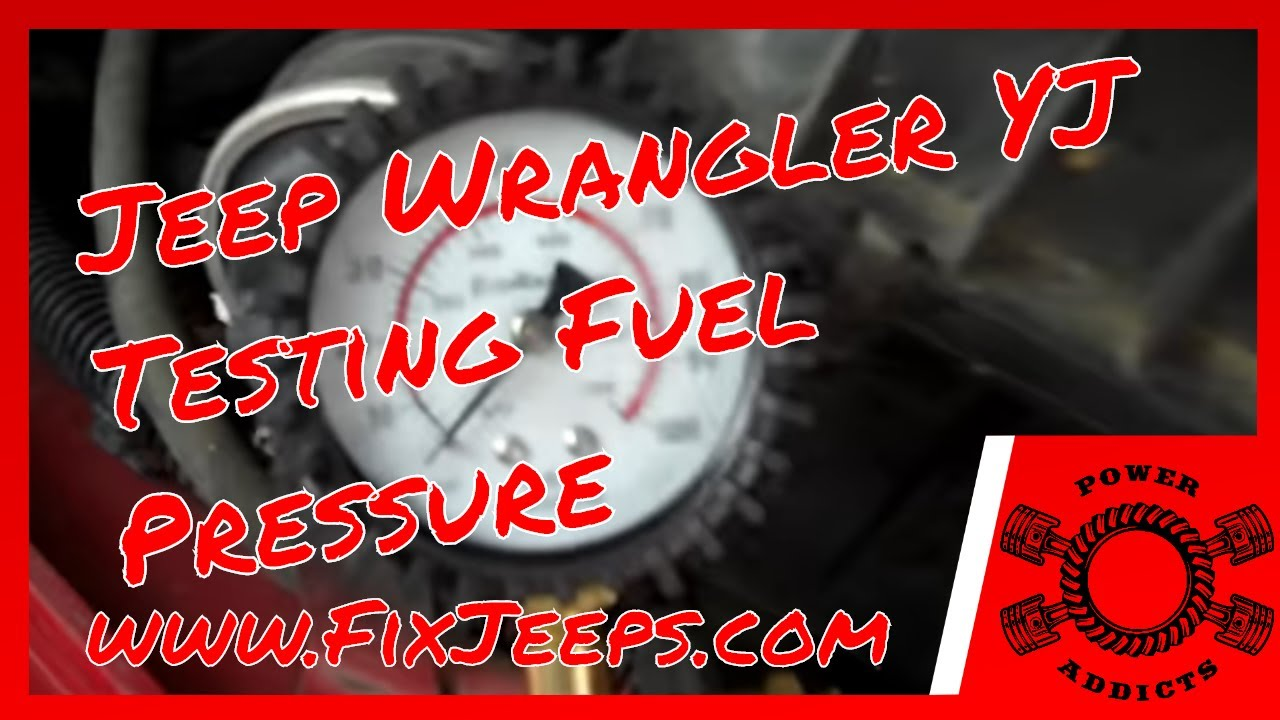 Jeep Wrangler Yj 40 Testing Fuel Pressure With A Loan Tool 1991 Engine Diagram Tester Youtube