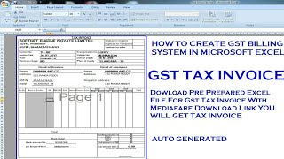 Hi, don't forget to subscribe this channel and leave comments. keep visiting for more videos. how create gst billing system in microsoft excel gene...