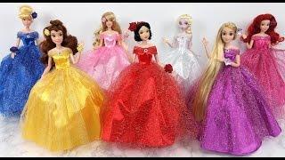 Princess doll Dress - Snow White Cinderella Rapunzel Elsa Sleeping Beauty Belle Mermaid