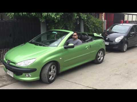 Peugeot 206 cc Cabriolet Convertible 1.6 descapotando