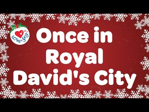 Once in Royal David's City with Lyrics | Christmas Songs & Carols| Children Love to Sing