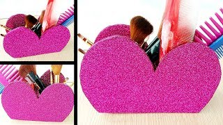 Pretty Pink Heart Shaped Cosmetic Box DIY   Best Out of Waste Plastic Bottle Craft   Life Hacks