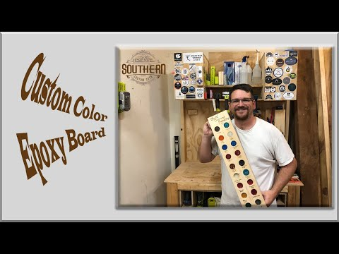 Custom Color Epoxy Board | Easy DIY | Pyrography Writing | Scrap Wood Project | Resin Art