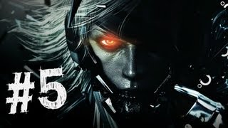 Metal Gear Rising Revengeance Gameplay Walkthrough Part 5 - Mistral Boss - Mission 2