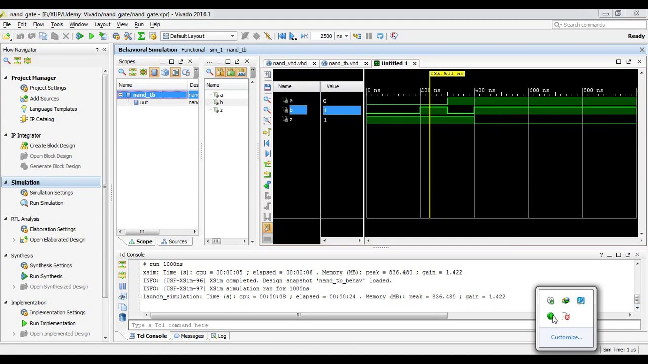 Writing Simulation Testbench on VHDL with VIVADO