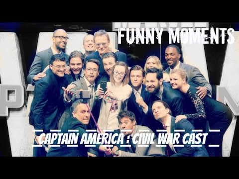 Captain America : Civil War Cast Funny Moments Part 1
