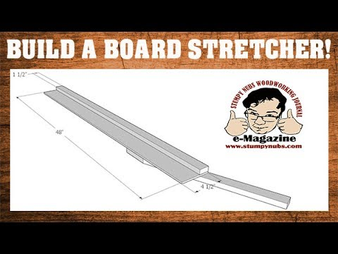 """NO JOKE- How to make a """"Board Stretcher"""" to make a work-piece longer! (Woodworking scarf joint)"""