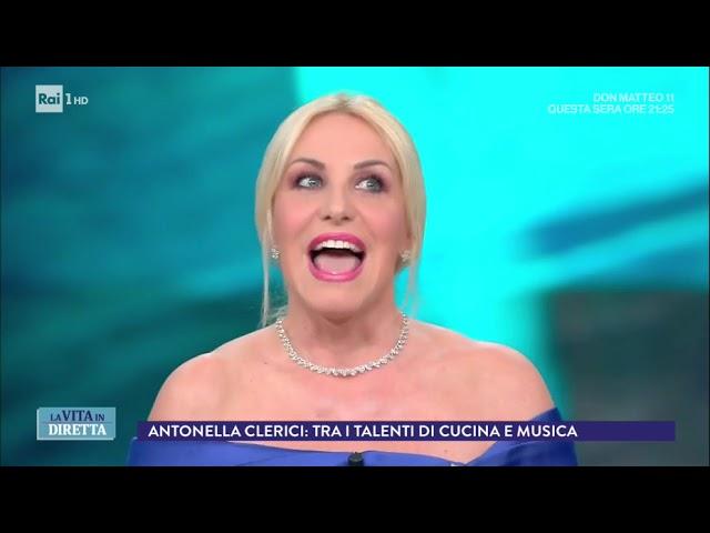 Antonella Clerici Story: tra i talenti di cucina e musica - La Vita in Diretta 01/03/2018