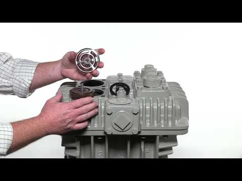 How to maintain the suction and discharge valves in a reciprocating vertical compressor.