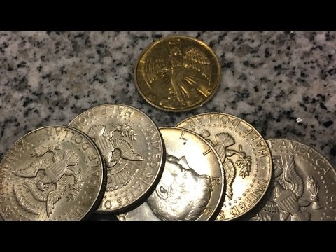 My Silver Guardian Angel! Silver Half Dollar Coin Roll Treasure Hunting!
