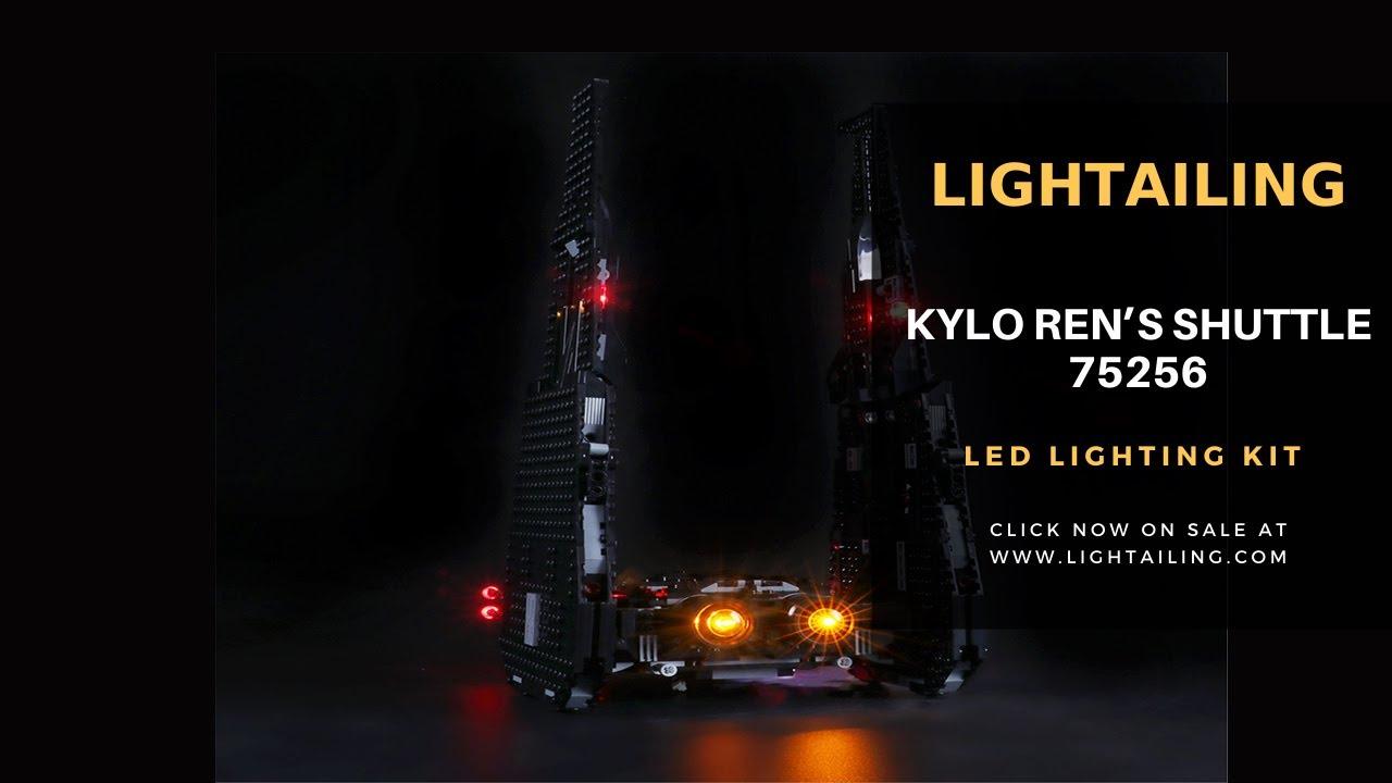 Briksmax Light Kit For Lego Kylo Ren S Shuttle 75256 Youtube