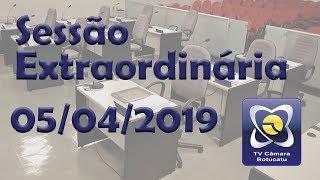 Sessão extraordinária 05/04/2019