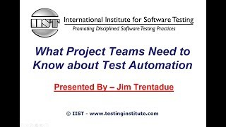 Software Testing Training   What Project Teams Need to Know about Test Automation screenshot 1