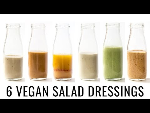 6 VEGAN SALAD DRESSINGS | with OIL-FREE options! 👌🏻