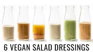 6 VEGAN SALAD DRESSINGS | with OIL-FREE options! 👌🏻