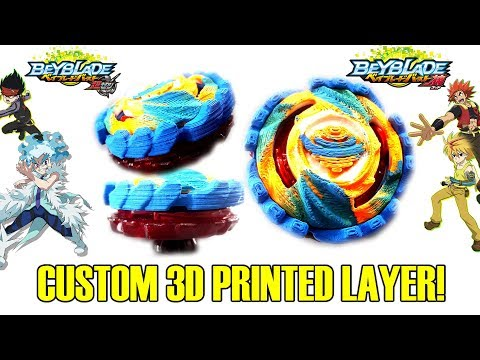 OUR OWN BEYBLADE! 3D CUSTOM 3D PRINTED BEYBLADE BURST LAYER MOD