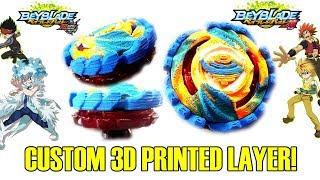 OUR OWN BEYBLADE! 3D CUSTOM 3D PRINTED BEYBLADE BURST LAYER MOD