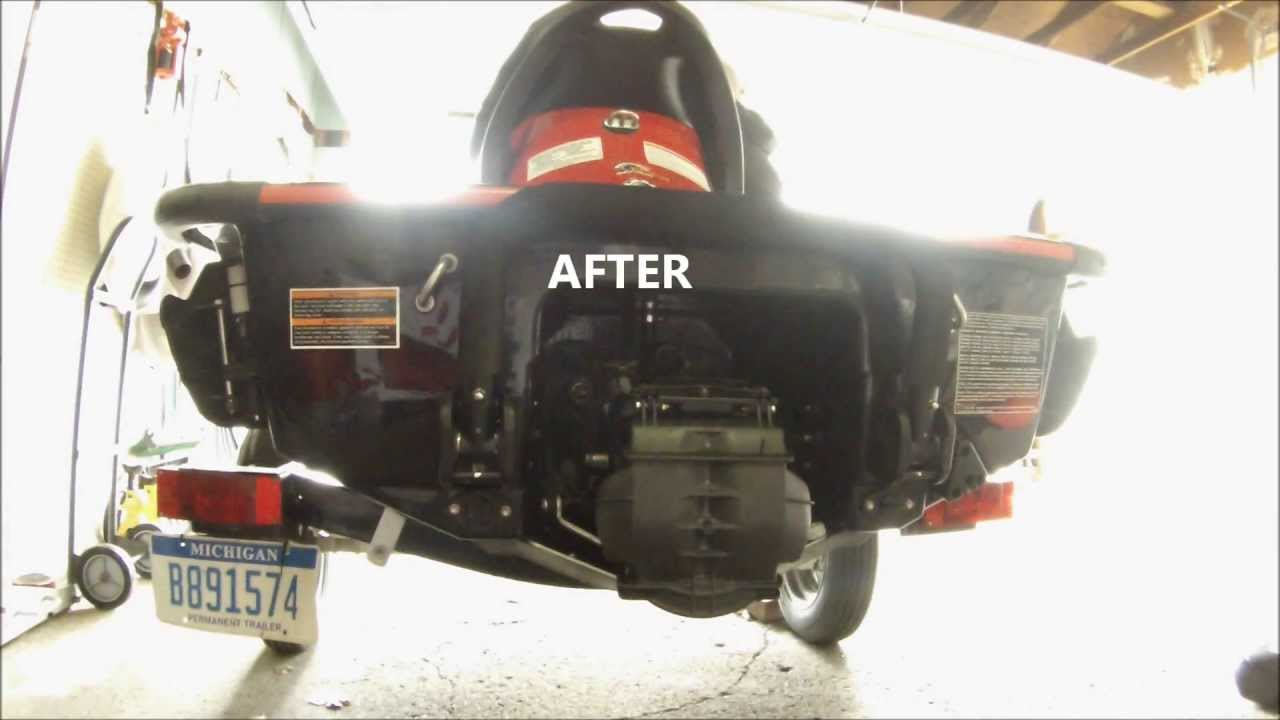 diy flow exhaust 2008 seadoo rxt 215