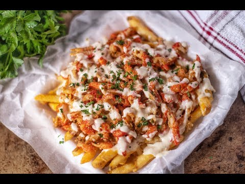 CRAWFISH FRIES WITH CREAMY QUESO CHEESE SAUCE RECIPE