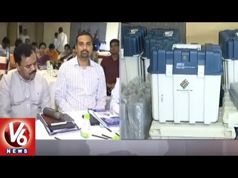EC CEO Rajat Kumar Holds Meeting With District Collectors Over Early Elections   Hyderabad   V6 News