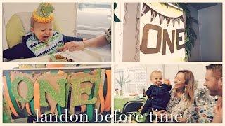 best birthday ever   landon's first birthday party