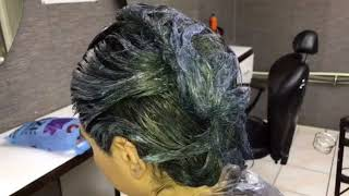 Mavi Saç Boyama / Blue Hair Coloring