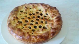 Вкусный , красивый пирог . Рецепт дрожжевого теста Пирог со сливами