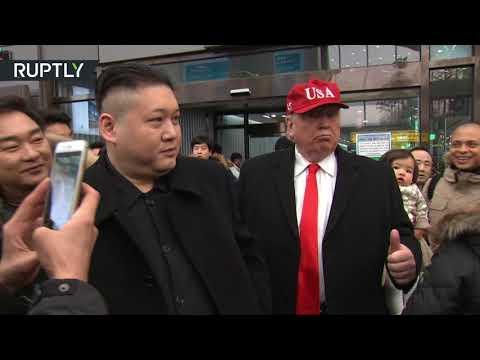Kim & Trump in S. Korea? Impersonators befuddle Seoul locals