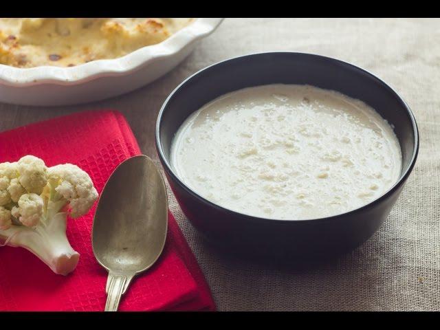 ثلث ساعة - الجزء الأول: شوربة كريمة القرنبيط -  قرنبيط بصلصة الجبنة والثوم المشوي