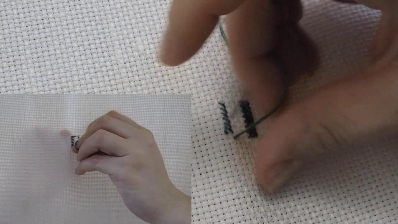 Вышивка крестом в два прокола видео