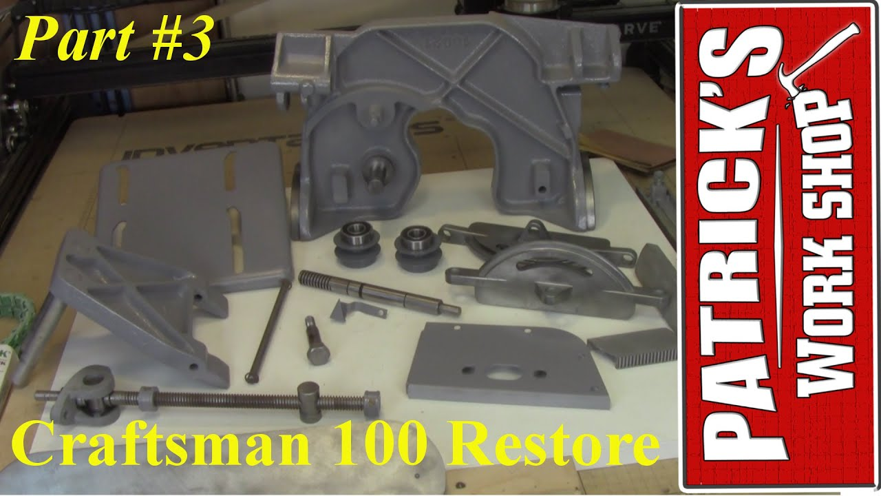 How To Restore A Craftsman 100 Table Saw Restoration Part 3