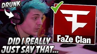 Ninja Gets DRUNK On Stream & Accidentally LEAKS That He Is Joining FAZE! (NinjasHyper)