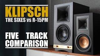 Klipsch The Sixes vs Klipsch R-15PM || 5 Track Comparison