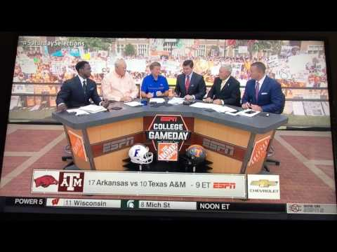 College Gameday week 4 picks (9/24/2016) Florida vs Tennessee