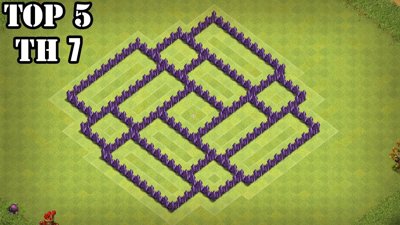 Top 5 Best Town Hall 7 Defense Farming Base War Base Clash Of Clans Youtube
