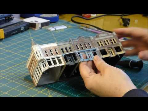 How to add interiors to your N scale buildings