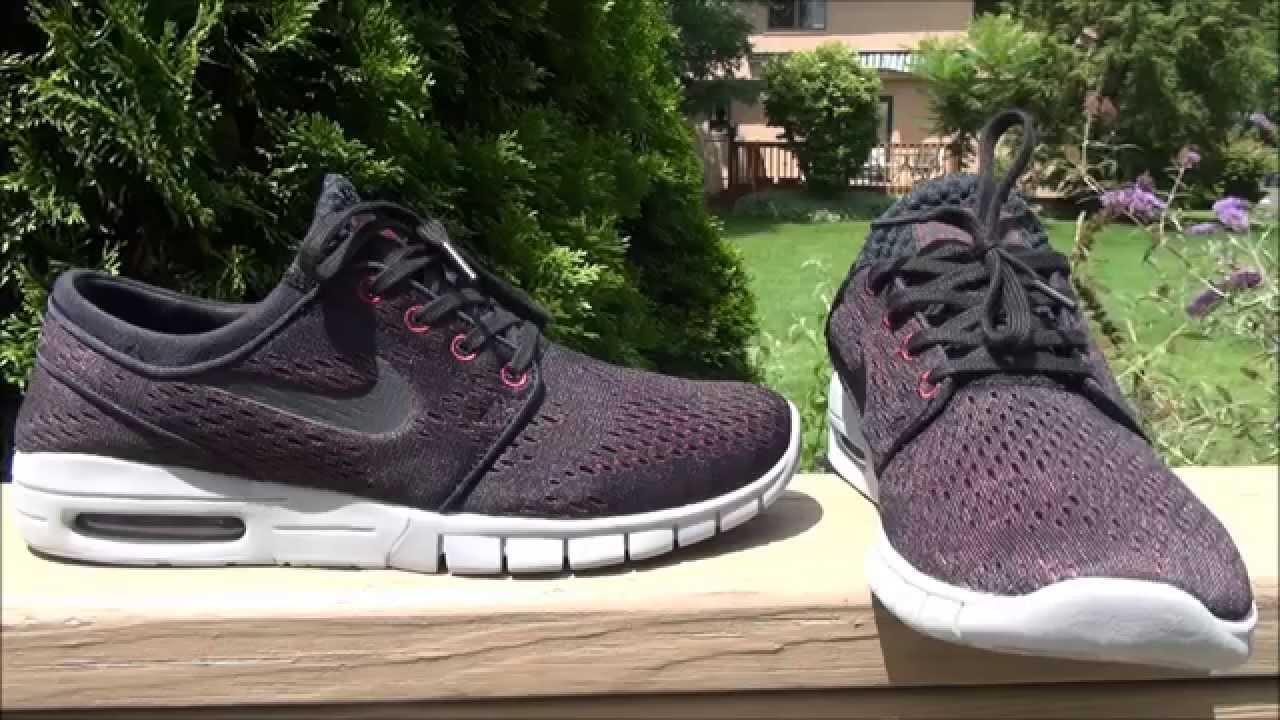 sale retailer 10115 1a228 Nike SB Janoski Max Villain Red, Black,   Wolf Grey Shoes - YouTube
